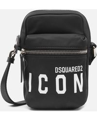 DSquared² D2 Icon Nylon Cross Body Bag - Black