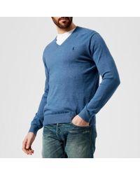Polo Ralph Lauren | Men's Pima Vneck Knitted Jumper | Lyst