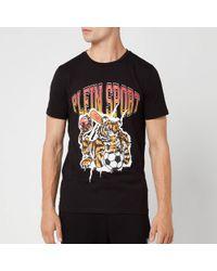 Philipp Plein Crew Neck Tiger T-shirt - Black