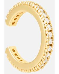 Astrid & Miyu Crystal Ear Cuff In Gold - Metallic
