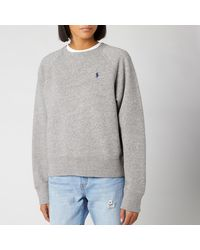 Polo Ralph Lauren Raglan Sweatshirt - Gray