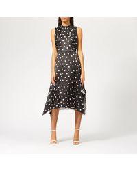 HUGO Kamali-1 Printed Dress - Black