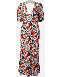 RIXO London Steph Midi Dress - Multicolor