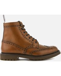 Church's Mc Farlane 2 Grained Leather Lace Up Boots - Brown