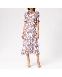 See By Chloé Short Sleeve Midi Dress - Multicolor
