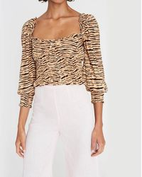 Faithfull The Brand Willow Top - Brown