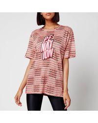 P.E Nation Goal Line T-shirt - Pink