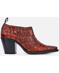 Ganni - Women's Nola Heeled Ankle Boots - Lyst