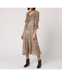 See By Chloé Python Silk Crepon Dress - Multicolour