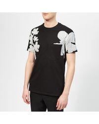 Neil Barrett Shadow Flower T-shirt - Black