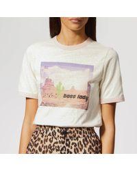 """Ganni """"boss Lady"""" T-shirt - White"""