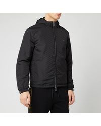 Emporio Armani Allover Print Jacket - Black