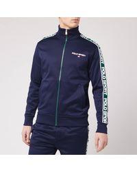 Polo Ralph Lauren Polo Sport Stripe Fleece Track Jacket - Blue