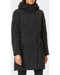 Canada Goose Kinley Hooded Cinched-waist Parka Coat - Black