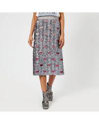 COACH - Women's Long Embellished Skirt - Lyst