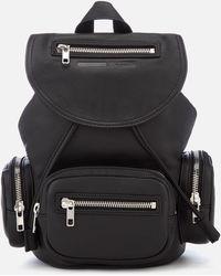 McQ Mini Convertible Drawstring Bag - Black