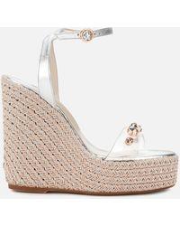 Sophia Webster Dina Gem Espadrille Heeled Sandals - Metallic