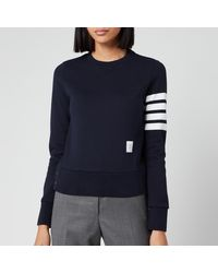 Thom Browne Classic Sweatshirt In Classic Loop Back - Blue