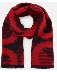 Vivienne Westwood Tartan Squiggle Orb Scarf - Red