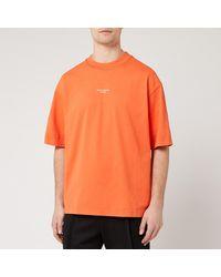 Acne Studios Reverse Logo T-shirt - Orange