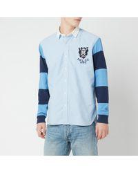 Polo Ralph Lauren Stripe Sleeve Oxford Shirt - Blue