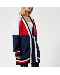 Tommy Hilfiger - Women's Gigi Hadid Multi Stitch Cardi Long Sleeve Cardigan - Lyst