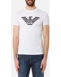 Emporio Armani - Men's Aj Chest Logo Tshirt - Lyst