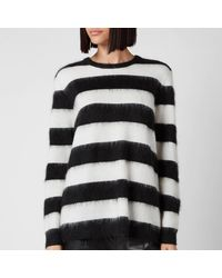 Bella Freud Striped Mohair Oversized Jumper - Multicolour