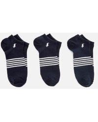 Polo Ralph Lauren - Men's Stripe 3 Pack Socks - Lyst