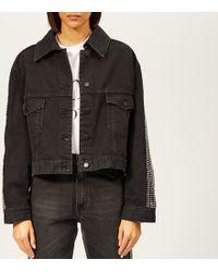 Christopher Kane Crystal Denim Jacket - Black