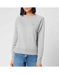 Maison Kitsuné Sweatshirt Tricolor Fox Patch - Grey