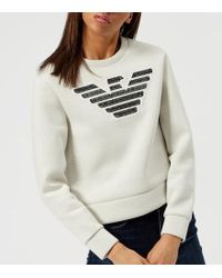 Emporio Armani - Women's Large Eagle Logo Sweatshirt - Lyst