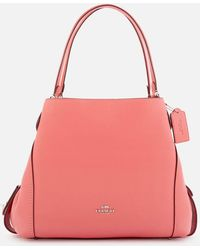 COACH Polished Pebble Leather Edie 31 Shoulder Bag - Pink