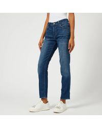 J Brand - Johnny Mid Rise Boy Fit Jeans - Lyst