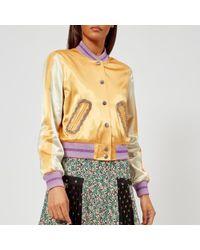 COACH - Women's Satin Varsity Jacket - Lyst