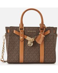 MICHAEL Michael Kors Nouveau Hamilton Small Satchel Bag - Brown