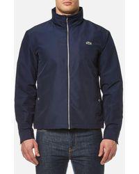 Lacoste - Men's Zipped Rain Jacket - Lyst