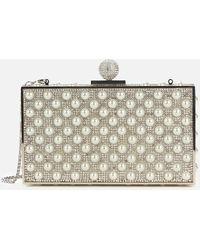 Sophia Webster Clara Crystal Box Bag - Metallic