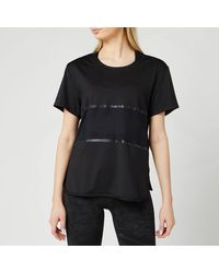 adidas By Stella McCartney Paneled T-shirt - Black