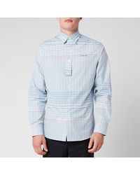 Lanvin Adjustable Cuff Check Shirt - Blue