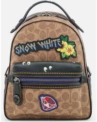 f50df7cc61 COACH - Women s Disney X Coach Coated Canvas Snow White Campus Backpack 23  - Lyst