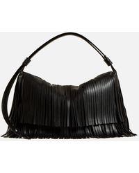 Simon Miller Vegan Fringe Puffin Bag - Black