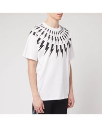 Neil Barrett Fairisle Thunderbolt T-shirt - White
