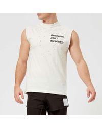Satisfy Men's Cult Moth Eaten Muscle Tshirt - White
