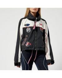 Tommy Hilfiger Women's Gigi Hadid Windbreaker Long Sleeve Coat - Black