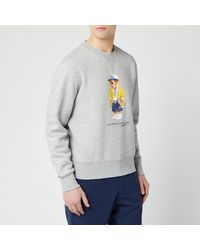 Polo Ralph Lauren Teddy Bear Logo Print Sweatshirt - Grey