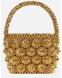 Shrimps Gold Shelly Beaded Tote Bag - Metallic