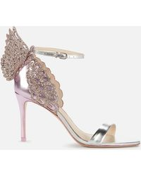Sophia Webster Evangeline Mid Heeled Sandals - Purple