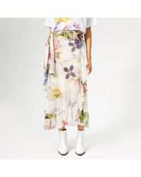 Ganni Tilden Mesh Skirt - White