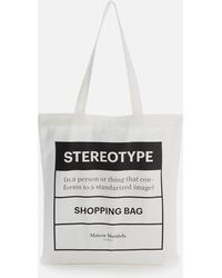 Maison Margiela Printed Tote Bag - White